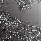 Map line of topography. Vector abstract topographic map concept with space for your copy. Mountain hiking Royalty Free Stock Photography