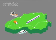 Map Lithuania isometric concept. Royalty Free Stock Images