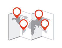 Map location Stock Photos