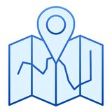 Map location flat icon. Map with pin blue icons in trendy flat style. Travel gradient style design, designed for web and. App. Eps 10 vector illustration