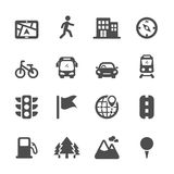 Map location icon set 2, vector eps10 Stock Photos