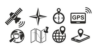 Map and Location Icons stock illustration