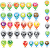 Map and Location Icons and icon map Royalty Free Stock Photography