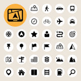 Map and Location Icons set. Illustration eps10 Stock Images