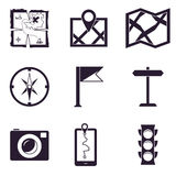 Map and Location Icons set Royalty Free Stock Photography