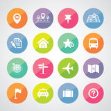 Map and location icons Stock Photos