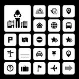 Map and location icons Royalty Free Stock Photos