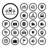 Map and location icons Royalty Free Stock Images