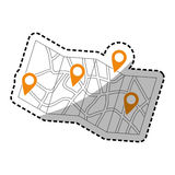 Map location marker Royalty Free Stock Image