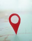 Map locator point Stock Image