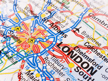 Map of London stock image