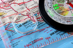 Map Los Angeles Royalty Free Stock Image