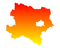 Map of Lower Austria Stock Images