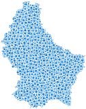 Map of Luxembourg - Europe - Stock Images