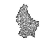 Map of Luxembourg on poppy seeds Royalty Free Stock Photography