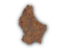 Map of Luxembourg on rusty metal Stock Photo