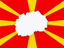 Map of Macedonia. Stock Photo