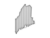 Map of Maine on corrugated iron. Colorful and crisp image of map of Maine on corrugated iron Royalty Free Stock Photos