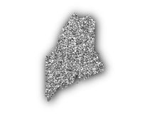 Map of Maine on poppy seeds Stock Image