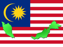 Map of Malaysia Stock Images