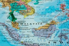 Map of Malaysia Royalty Free Stock Images