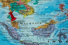 Map of Malaysia Royalty Free Stock Photo
