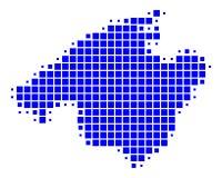 Map of Mallorca Stock Photos