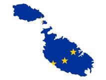 Map of Malta Stock Image
