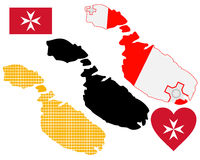 Map of Malta Royalty Free Stock Photo