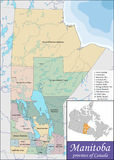 Map of Manitoba Stock Images