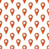 Map marker pattern seamless Stock Image