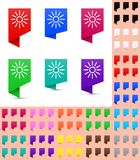 Map marker or pointer, angular marker mock up with soft gradient in different colors. Ready marker template Stock Image
