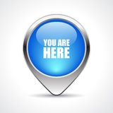 Map marker. Your are here vector illustration