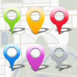 Map Markers Stock Photo
