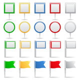 Map Markers and Flags Royalty Free Stock Images