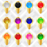 Map Markers. GPS Pointers. Royalty Free Stock Image