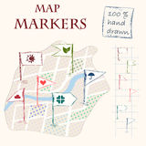 Map markers Stock Images