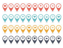 Map markers Royalty Free Stock Image