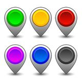 Map markers 3 Royalty Free Stock Photos