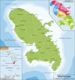 Map of Martinique Stock Images