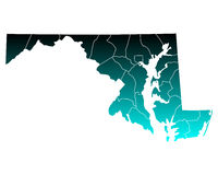 Map of Maryland Royalty Free Stock Images
