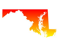 Map of Maryland Royalty Free Stock Photo