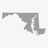 Map of Maryland State in gray on a white background. Map  of Maryland State in gray on a white background Royalty Free Stock Image