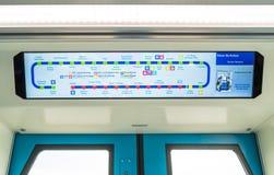 Map of Mass Rapid Transit MRT Train. Kuala Lumpur,Malaysia - July 25,2017 : Map of Mass Rapid Transit MRT Train. MRT is the latest public transportation system Stock Photo