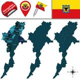 Map of Metropolitan Area of Bogota Royalty Free Stock Image