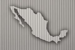 Map of Mexico on corrugated iron. Colorful and crisp image of map of Mexico on corrugated iron royalty free stock image