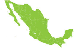 Map of Mexico Royalty Free Stock Image