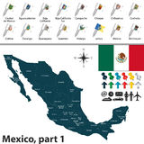 Map of Mexico Stock Photos
