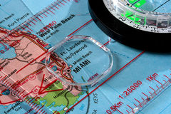 Map Miami Royalty Free Stock Photography