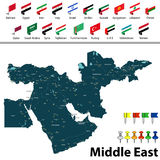 Map of Middle East Stock Photo